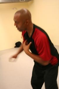 Dancing in Aziz Faye's dance class.