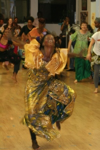 Nogaye dancing at Babacar Mbaye's dance class.