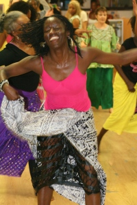 Dionne enjoying the dance.